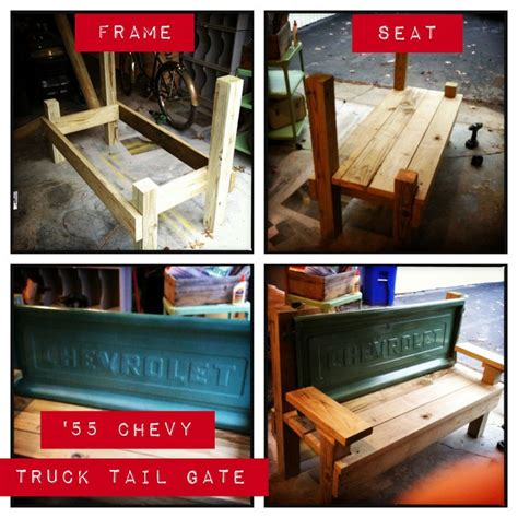 how to make a tailgate bench tailgate bench google search craft ideas pinterest