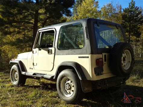 Repo Jeeps For Sale 1987 Owned Jeep Yj Wrangler Survivor All Original