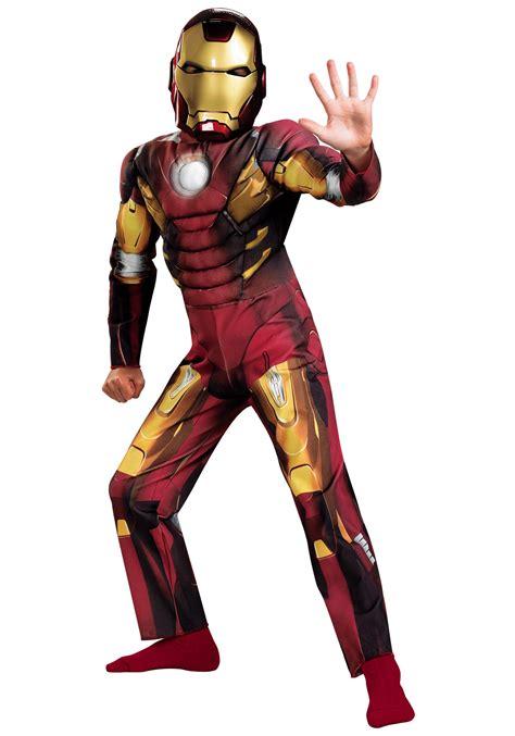 kids avengers iron man muscle costume