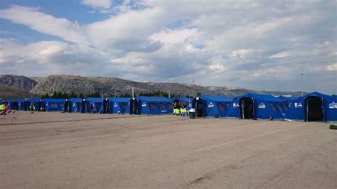 tende protezione civile sessanta volontari brindisini alla maxi esercitazione
