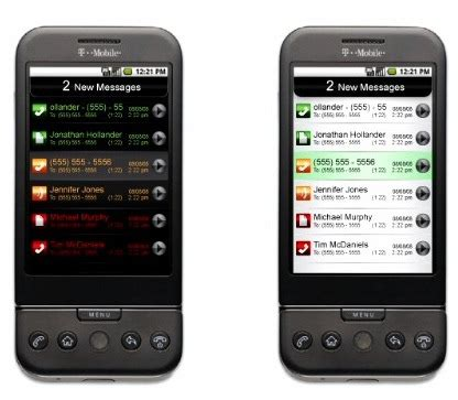 voicemail android phonefusion brings visual voicemail to android os t mobile g1 intomobile