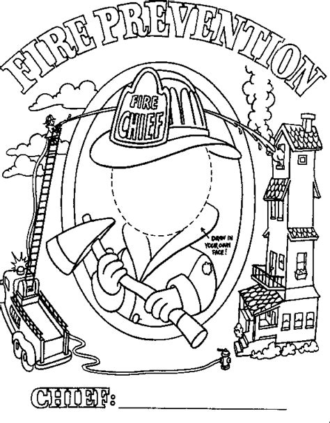 make a fire safety book with the following coloring pages