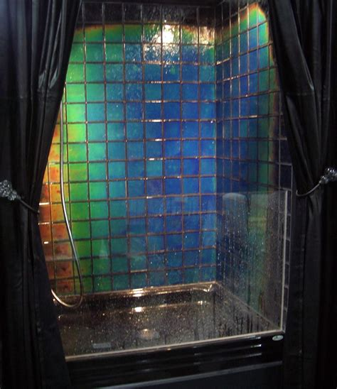 Changing Color Shower by Moving Color Geometrical Color Changing Tile Shower