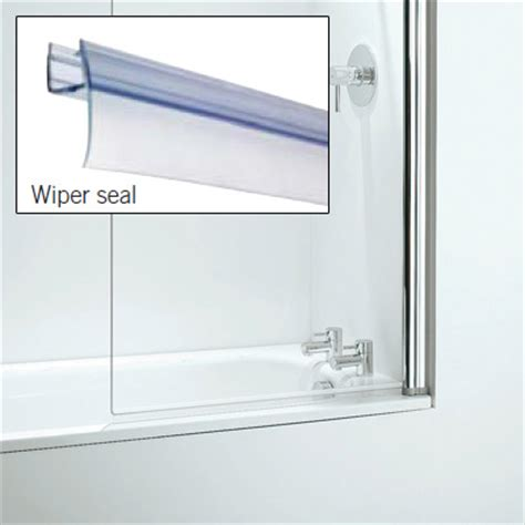 Croydex Rigid Bath Shower Screen Seal Replacement Wiper Bathroom Shower Screen Seals