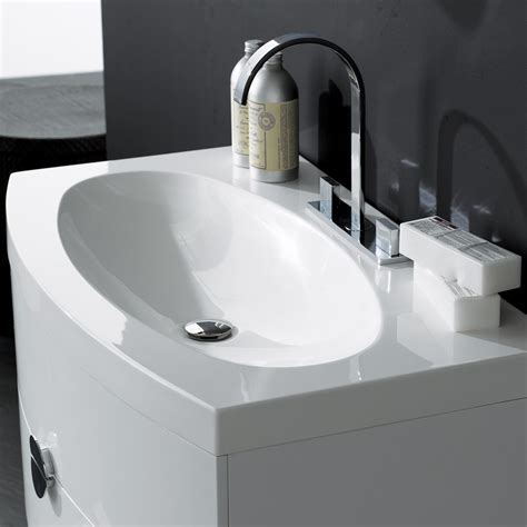 designer sinks bathroom milano stone gloss white wall mounted vanity unit