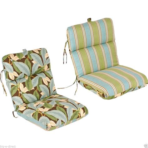 outdoor furniture chair cushions replacement reversible replacement outdoor patio chair cushion 100 spun polyester fiber fil ebay