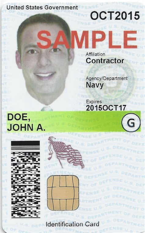 contractor id card template defense gov news article cac change aids visually color