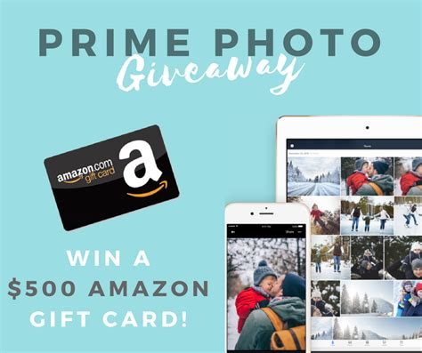 Prime Giveaway - share prime photos with family a grande life