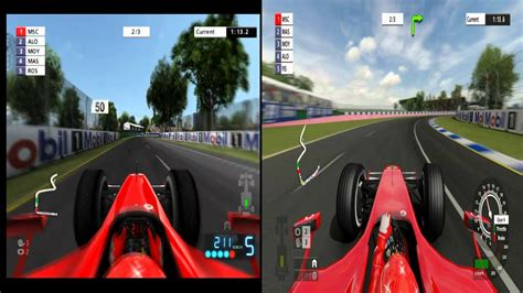 formula 3 vs formula 1 f1 06 ps2 vs formula one chionship edition ps3