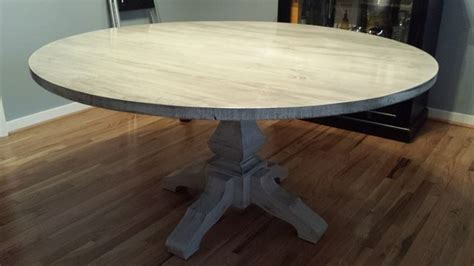 whitewashed round dining table 60 quot whitewashed round pedestal table beach style