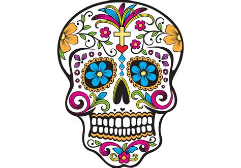 Free Sugar Skull Vector Day Of The Dead Skull Vector