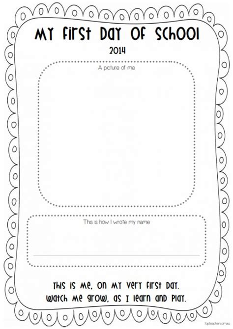 day of school template day of school printable template day of