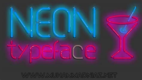free download neon typography neon typeface font free download full version