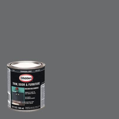 glidden trim door and furniture 1 qt charcoal grey gloss