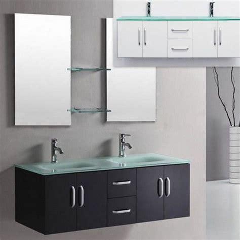 mobili bagno con doppio lavabo mobile bagno galaxy da 150 color bianco o nero lucido con