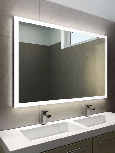 Led Mirrors For Bathrooms Halo Wide Led Light Bathroom Mirror Light Mirrors
