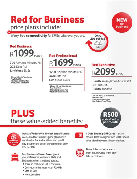 website like vodacom vodacom red for business launched