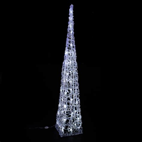 50b white led acrylic cone tree