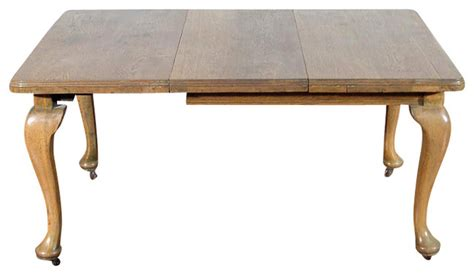 1950 Kitchen Furniture antique 5ft solid oak queen anne dining table c1950