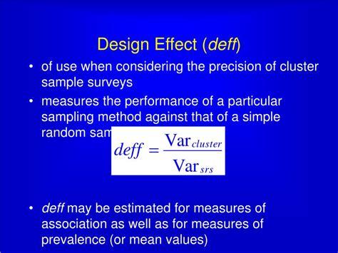 design effect in survey ppt design of cross sectional surveys using cluster
