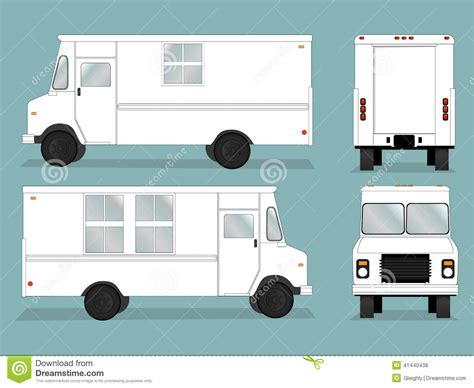 food truck layout template food truck template stock vector image 41440438