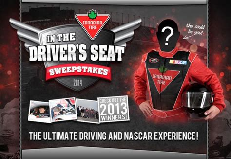 Canadian Sweepstakes 2014 - canadian tire in the driver s seat sweepstakes
