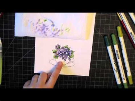 watercolor markers tutorial watercolor with distress markers youtube