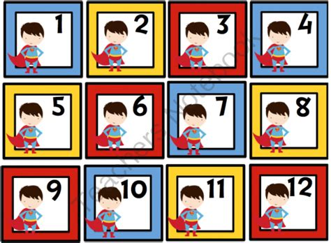 printable superhero number cards printable numbers 1 31 search results calendar 2015