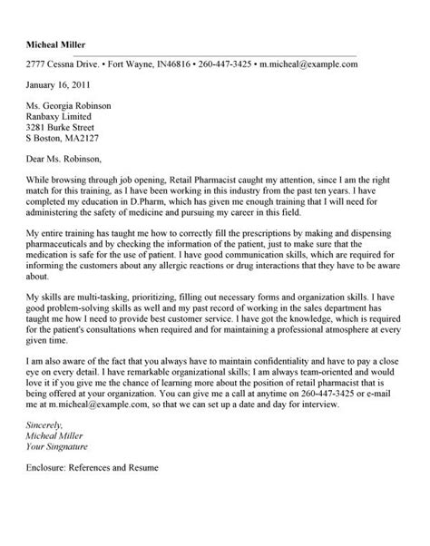 Traveling Pharmacist Cover Letter by Pharmacist Cover Letter Whitneyport Daily