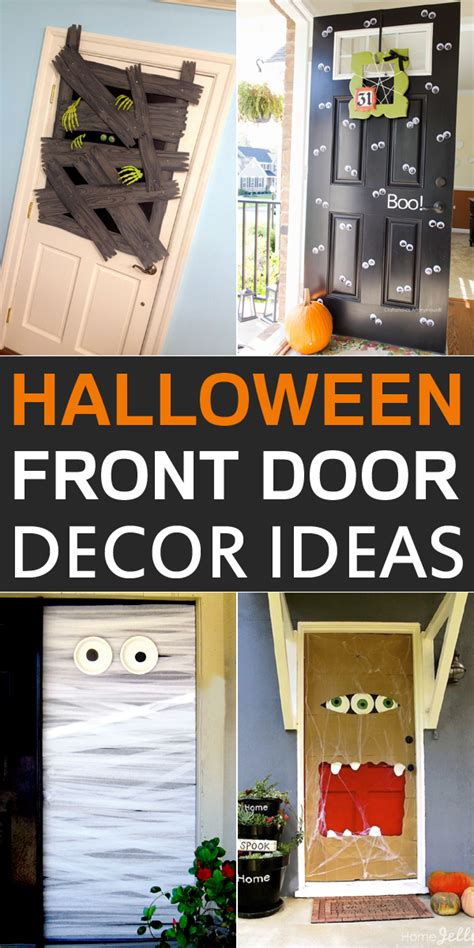 diy door decor 10 diy halloween front door decor ideas