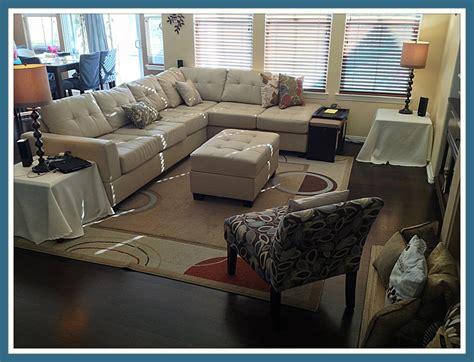 poundex bobkona khaki leather sectional only 775 with the