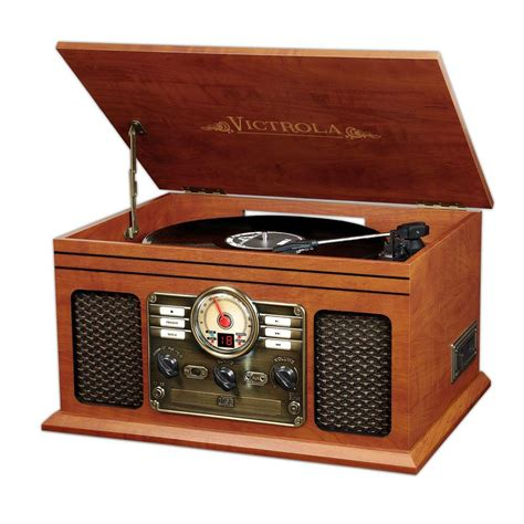 S C Records Victrola 6 In 1 Classic Wooden Turntable With Bluetooth In