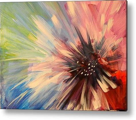 how to paint acrylic on canvas in abstract abstract flower acrylic print by a mesaros acrylics