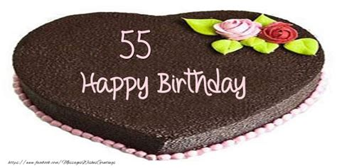 55 years of age 55 years happy birthday cake messageswishesgreetings com