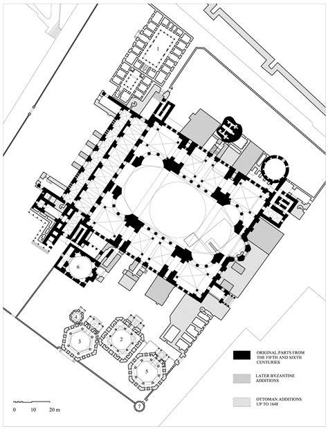 floor plan of hagia sophia hagia sophia floor plan of hagia sophia archnet