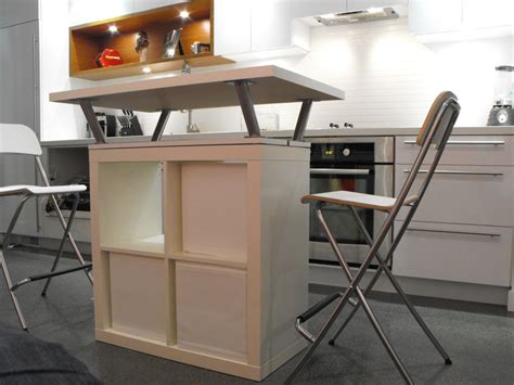 mobile kitchen island table expedit mobile island ikea hackers ikea hackers