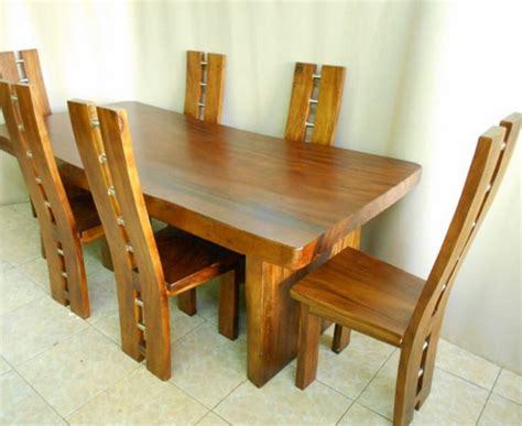 Lemari Pakaian Stenlis meja kursi makan minimalis kayu suar trembesi utuh lebar