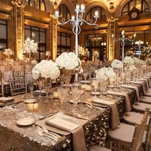Metallic reception decor