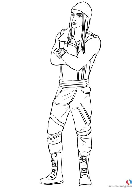 coloring pages descendants 2 jay from descendants 2 coloring pages printable for kids
