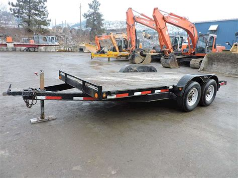 Flat Deck Trailer For Sale Bc by 2007 Rainbow 16 Ft X 6 Ft 10 In Flat Deck Trailer For