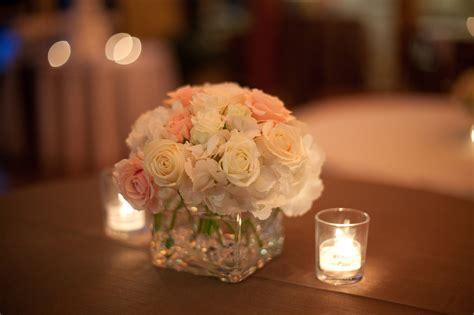 centerpieces with roses duke gardens wedding raleigh wedding planner