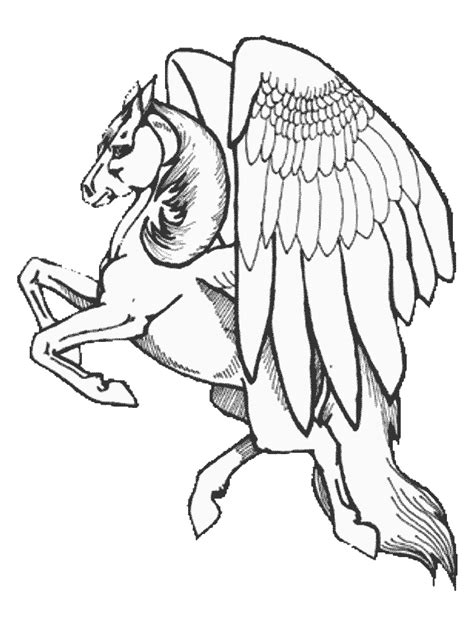 Free Printable Pegasus Coloring Pages For Kids Pegasus Coloring Pages