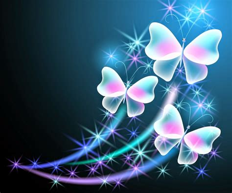 Cool Car Wallpapers For Desktop 3d Butterflies Wall by Neon Butterfly Wallpaper Wallpapersafari