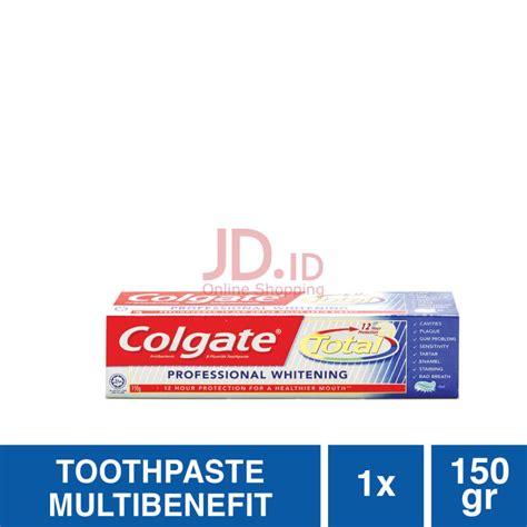 Pasta Gigi Colgate Whitening jual colgate total professional whitening 150g jd id