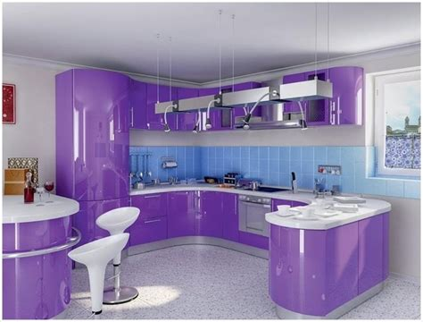 purple kitchen design modern latest kitchen interior designs with purple passion