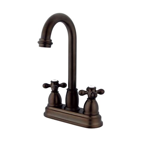 Deck Mount Kitchen Faucet by Shop Elements Of Design Chicago Oil Rubbed Bronze 2 Handle