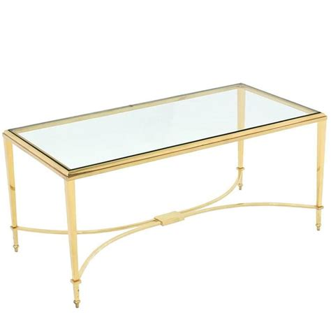 glass top coffee tables for sale solid brass and glass top coffee table for sale at 1stdibs
