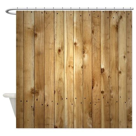wood curtain wood fence shower curtain by thehomeshop