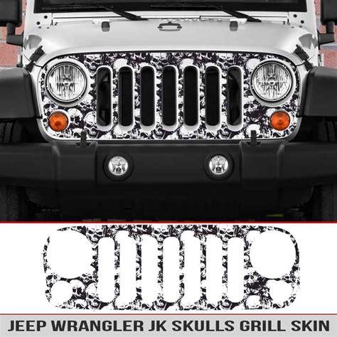 jeep grill skin jeep wrangler jk grille skin skulls