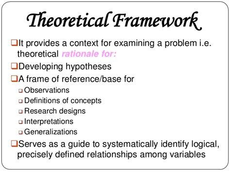 exles of theoretical framework in research paper conceptual and theoretical framework